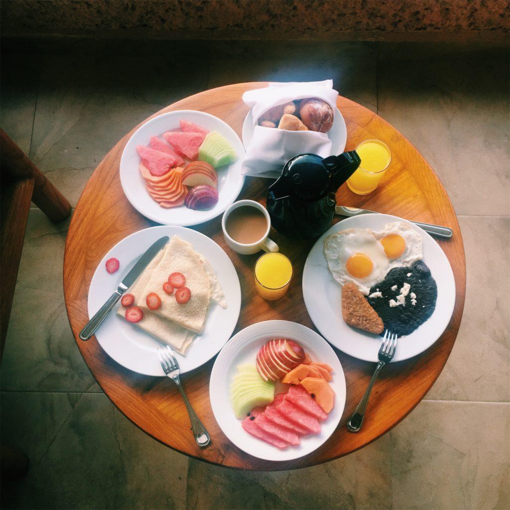 Barcelo Huatulco room service breakfast