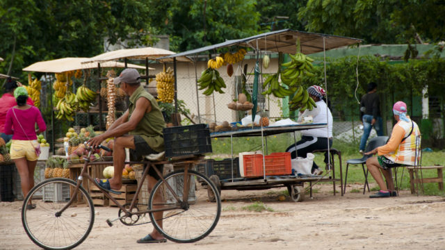 Food in Cuba at fruit stand