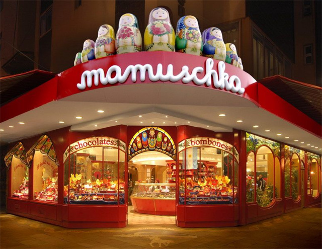 View of Mamuschka in Argentina, famous for their chocolates