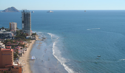 Aerial beach view - Mazatlan, Mexico