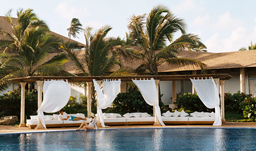 Poolside lounge beds - Excellence Punta Cana, D.R.